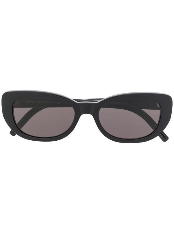 Saint Laurent Eyewear SL316 Betty rounded sunglasses in black