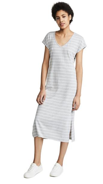 Z Supply The Stripe Midi Drop Dress in grey