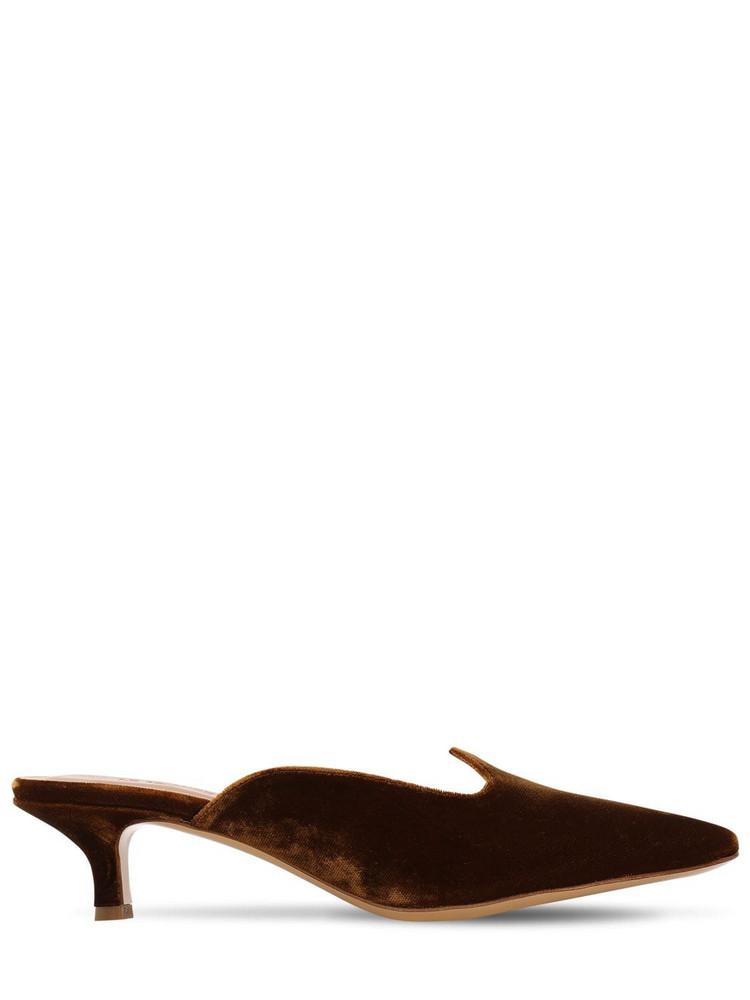 LE MONDE BERYL 40mm Velvet Mules