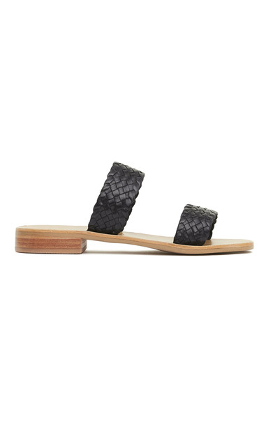 St. Agni Piers Woven Leather Mules Size: 35 in black