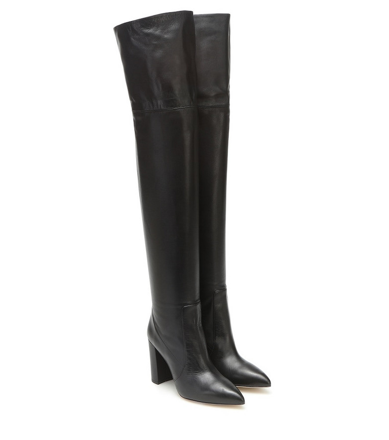 Paris Texas Leather over-the-knee boots in black