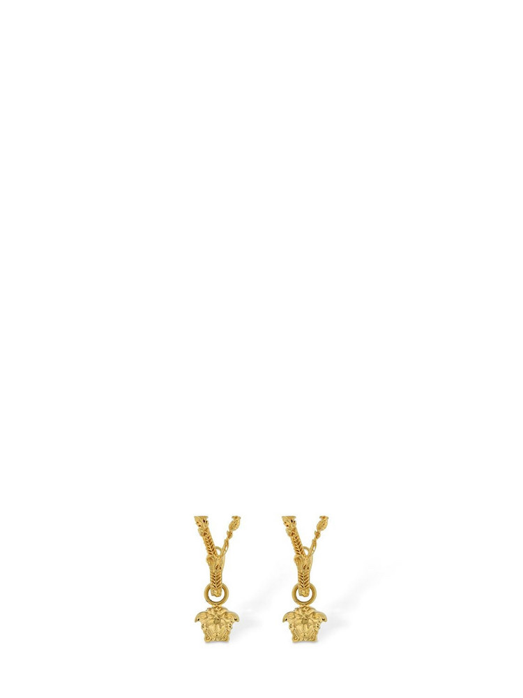 VERSACE Virtus Medusa Charm Earrings in gold