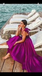 dress,purple silk dress