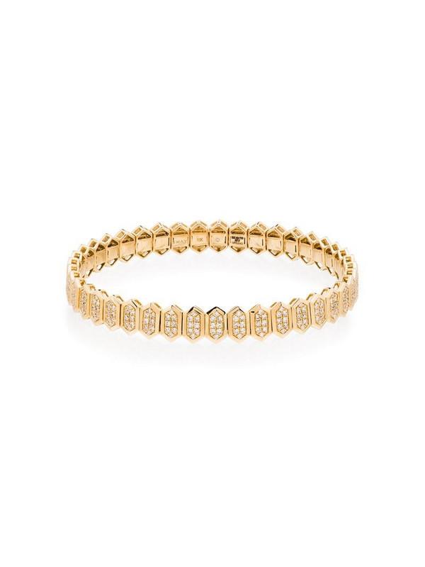 SHAY 18kt yellow gold hexagon pavé diamond bracelet