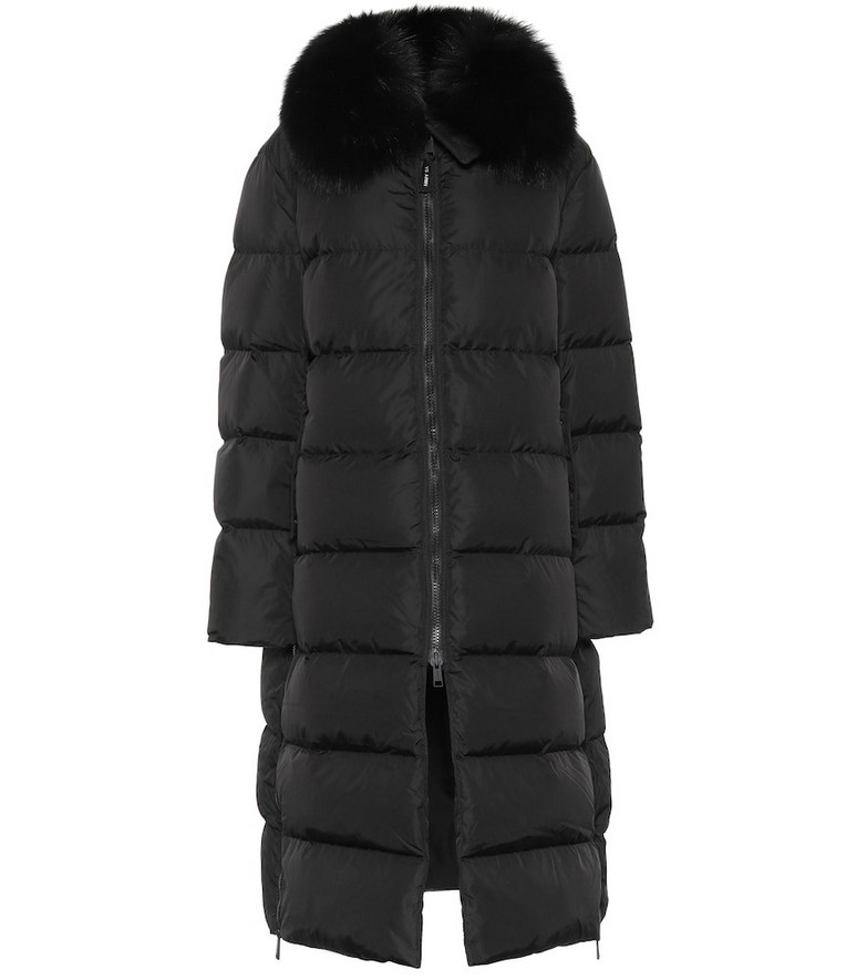 Yves Salomon - Army Fur-trimmed down jacket in black