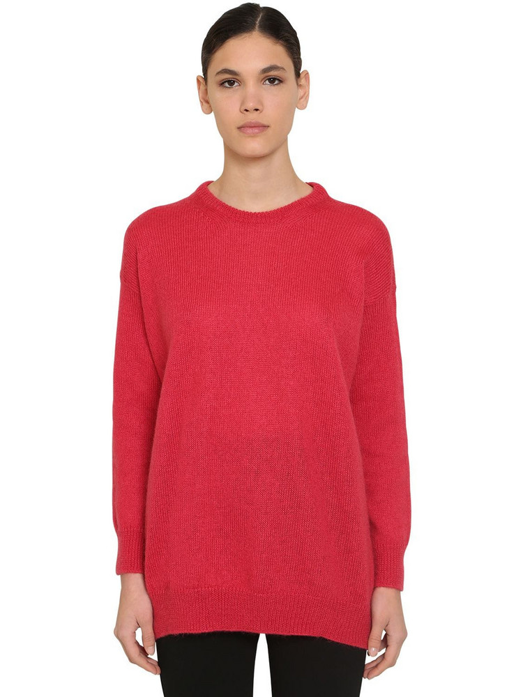 MAX MARA Mohair Blend Knit Sweater in coral