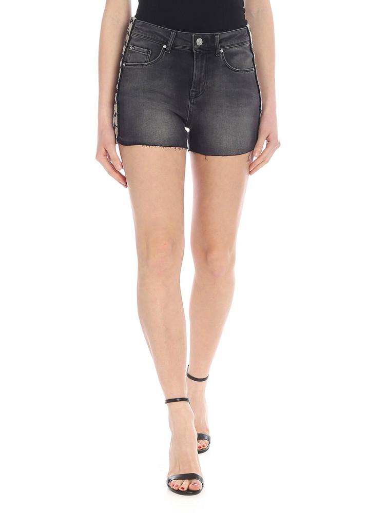 Kappa Logo Stripe Shorts in black