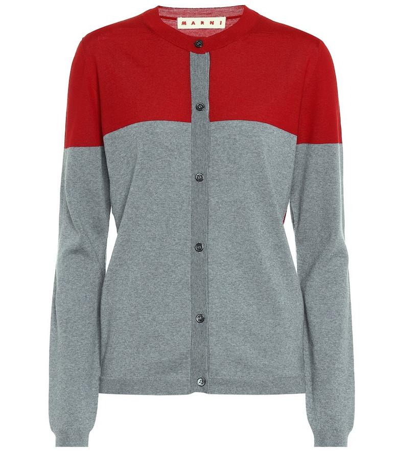 Marni Wool cardigan in grey