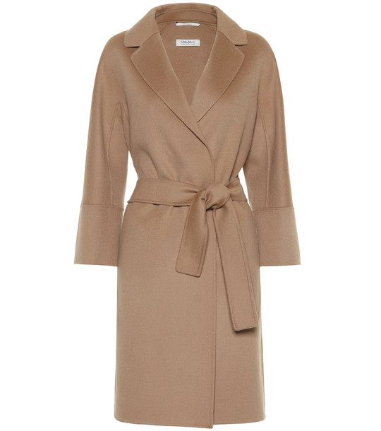 S Max Mara Arona double-face wool coat in beige
