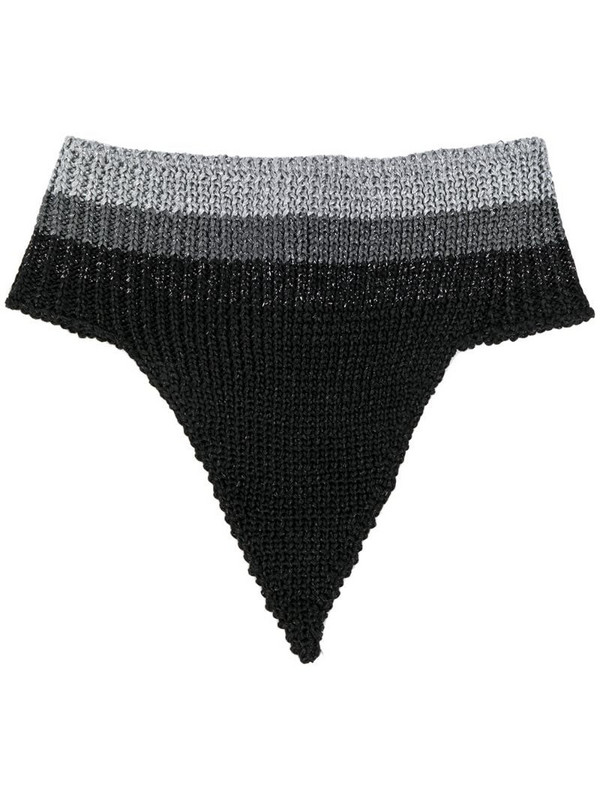 Marco De Vincenzo buttoned knitted scarf in black