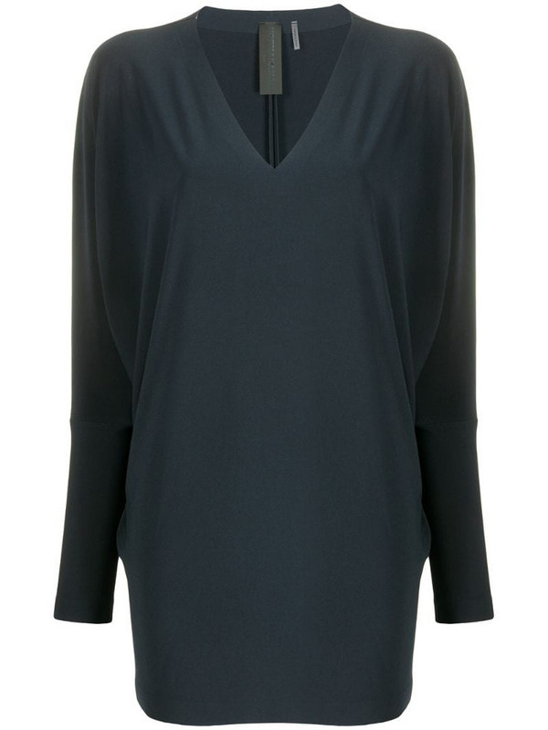 Norma Kamali dolman-sleeve blouse in blue