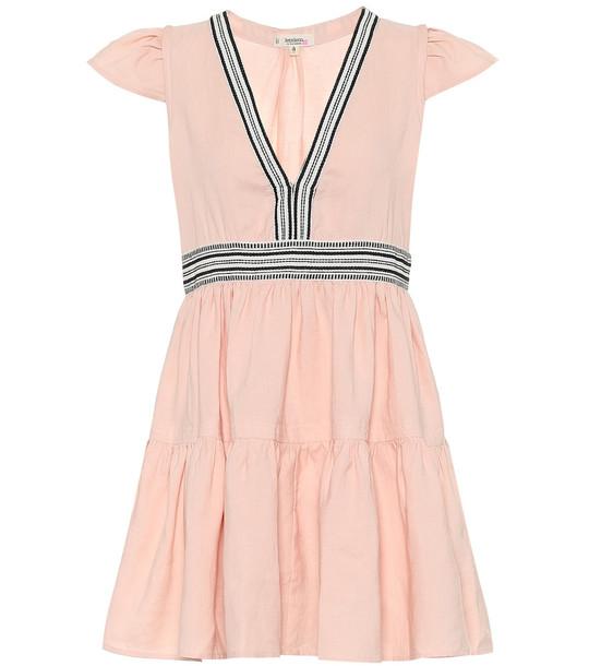 Lemlem Koki linen-blend minidress in pink