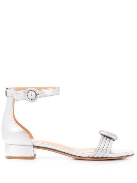 Alexandre Birman Vicky flat sandals in silver