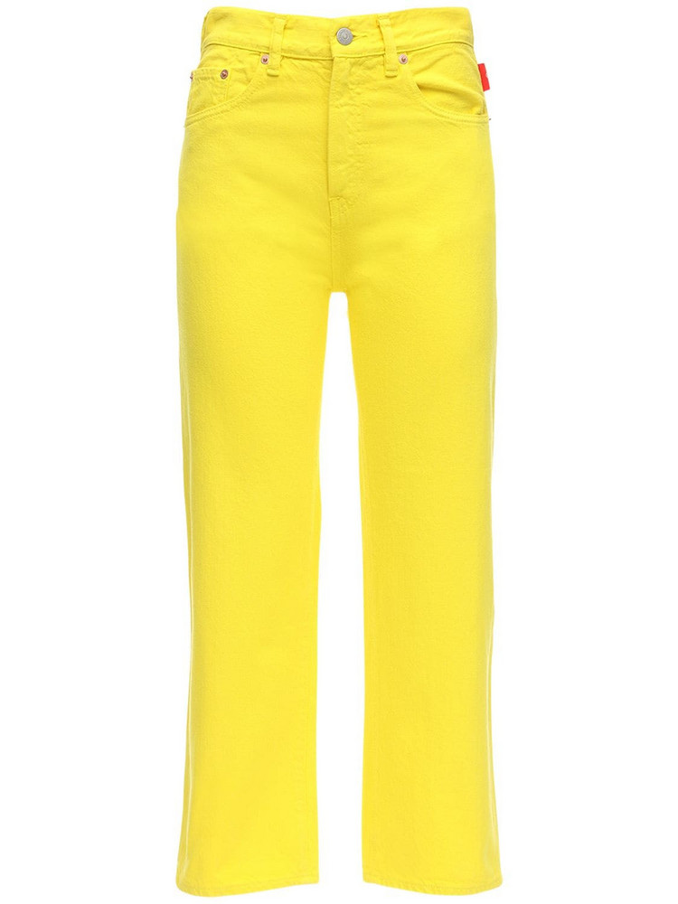 DENIMIST Pierce High Waist Cotton Denim Jeans in yellow
