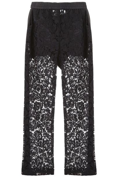 Valentino Lace Trousers in nero