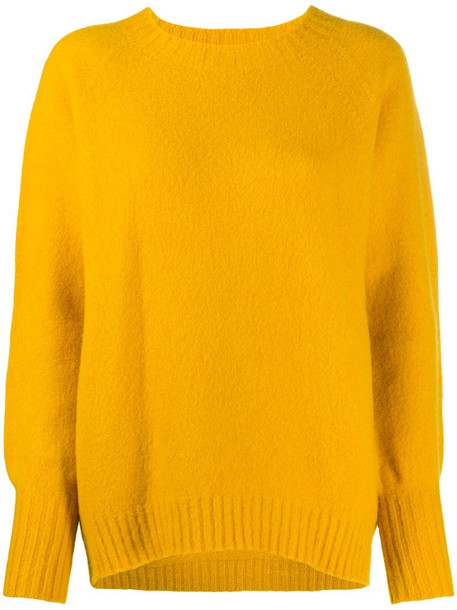 Drumohr blouson-sleeved sweater in yellow