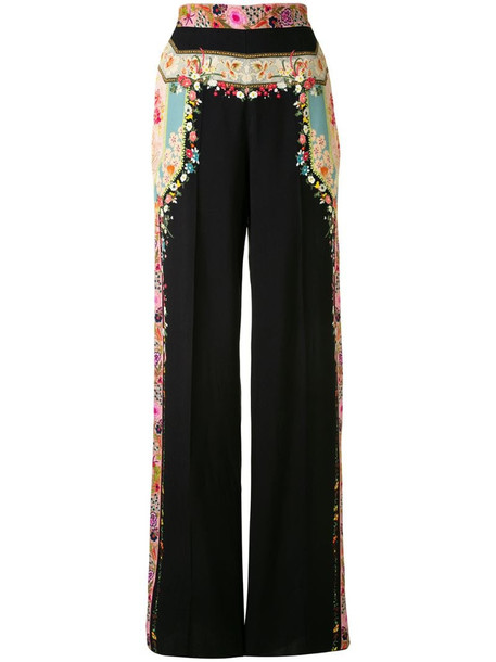 Etro floral print wide trousers
