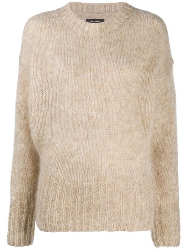 Isabel Marant mohair knit jumper in neutrals