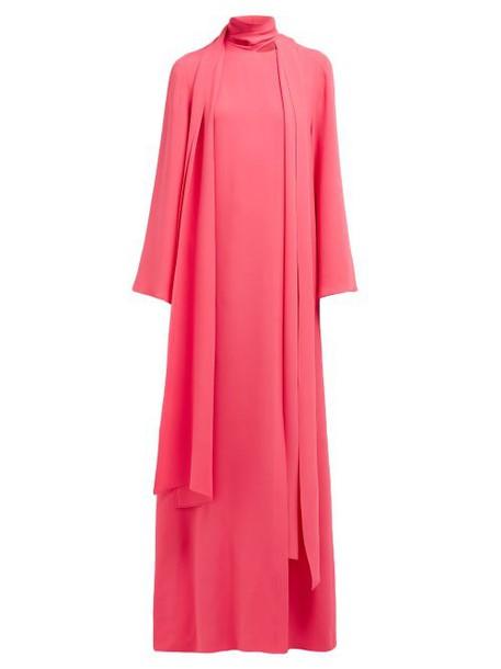 Carolina Herrera - Draped Silk Georgette Gown - Womens - Pink