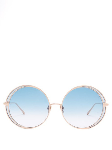 oversized metal sunglasses blue