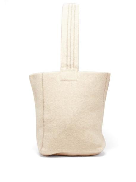Lauren Manoogian - Striped Wool And Alpaca Tote Bag - Womens - Ivory Multi
