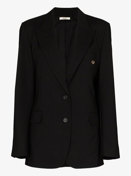 Zilver piercing oversized blazer in black