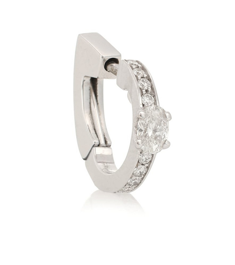 Repossi Harvest 18kt white gold and diamond single earring in silver
