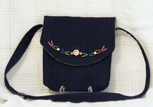 Colorful Beaded Hip Tote