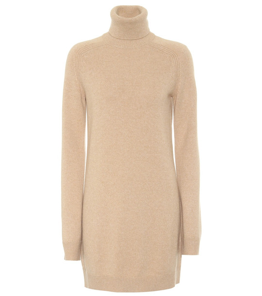 Loro Piana Exclusive to Mytheresa – Dunster cashmere turtleneck dress in beige