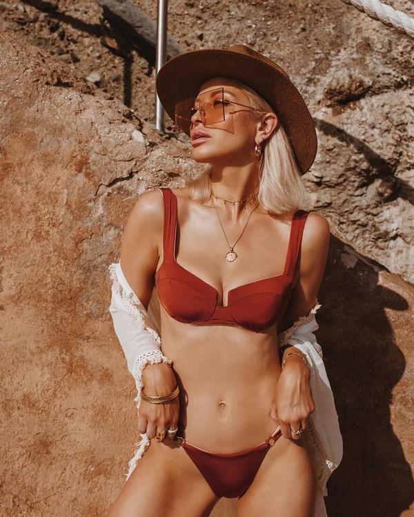swimwear bikini top bikini bottoms swimwear two piece kimono hat