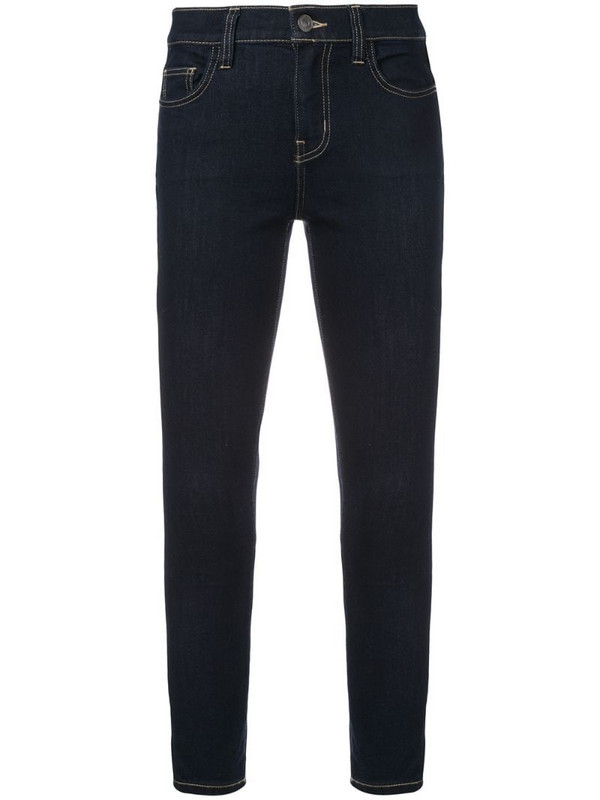 Current/Elliott cropped skinny jeans in blue