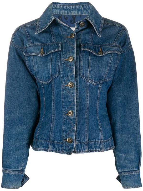 Fendi Pre-Owned 1990s denim jacket in blue