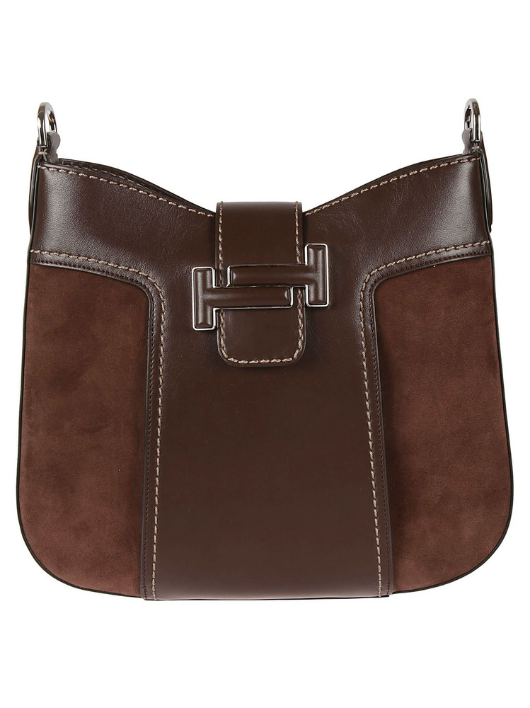 Tods Double T Hobo Bag in brown