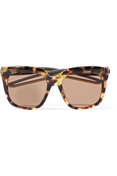 Balenciaga - Oversized Cat-eye Acetate Sunglasses - Tortoiseshell