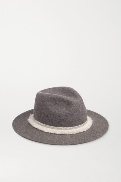 Eugenia Kim - Georgina Embellished Wool-felt Fedora - Gray