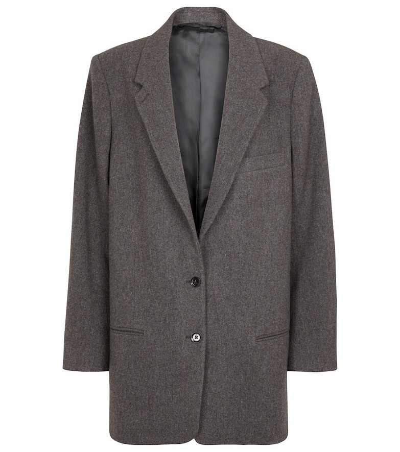 Lemaire Single-breasted wool blazer in grey