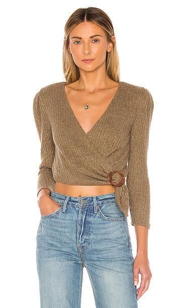 MAJORELLE Damien Sweater in Brown