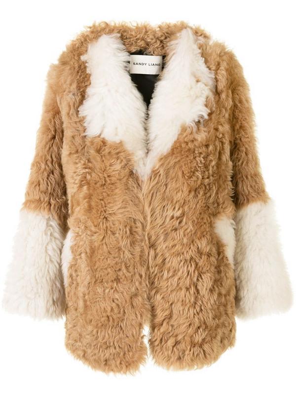 Sandy Liang Ermie coat in brown
