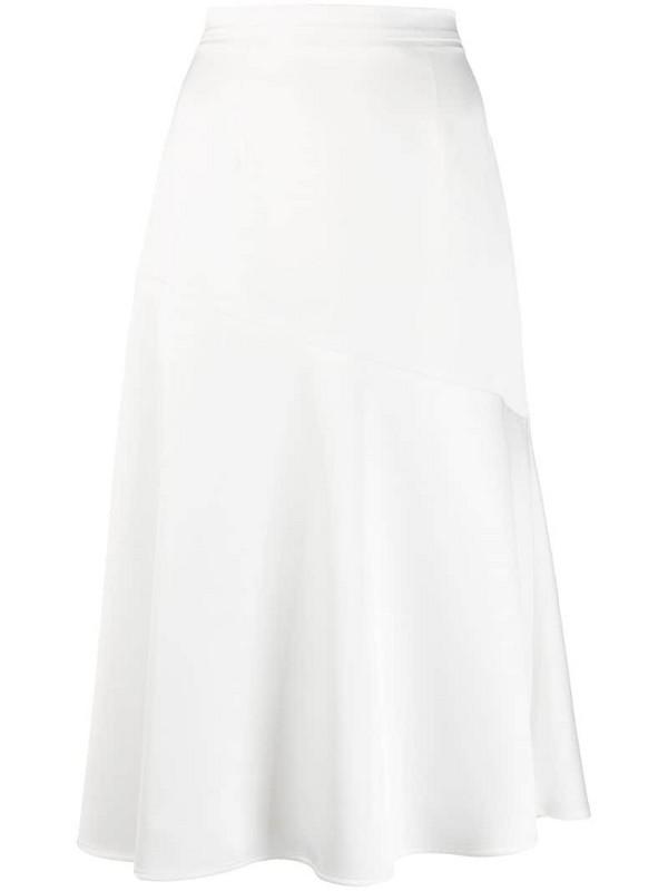 Blanca Vita asymmetric seam detail skirt in white