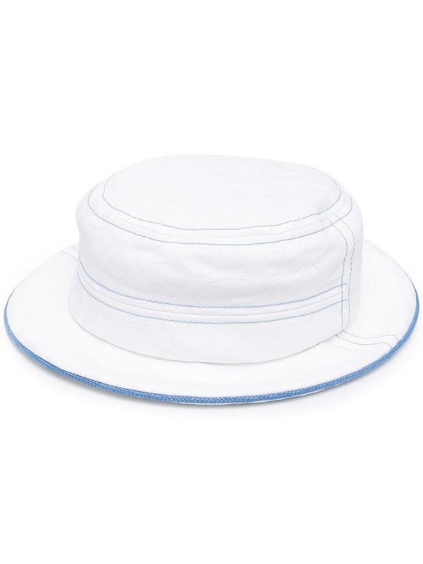 10 CORSO COMO contrast-trim hat in white