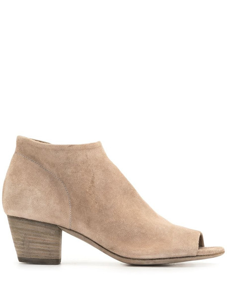 Officine Creative Adele suede booties in neutrals
