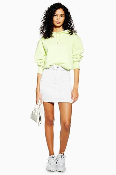 Topshop White Joni Skirt - White