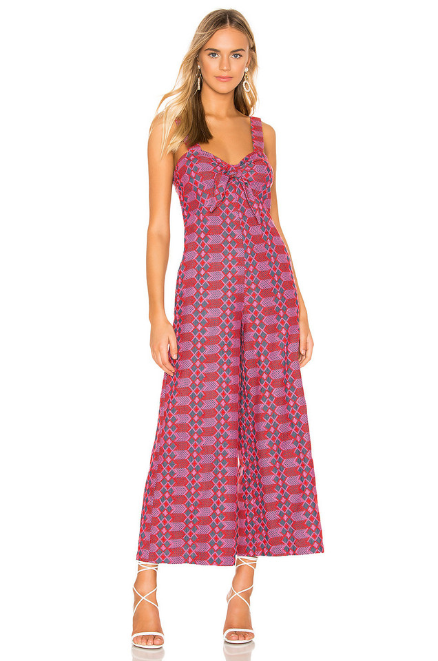 Tularosa Betsy Embroidered Jumpsuit in pink