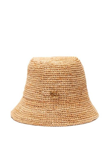 Gucci - Straw Bucket Hat - Womens - Beige