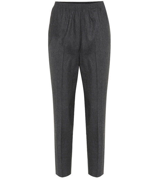 Woolrich Stretch wool-blend high-rise pants in grey
