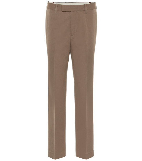 Helmut Lang Mid-rise wool pants in green