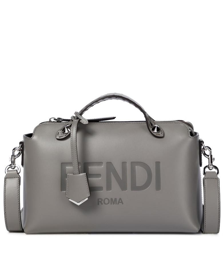 Fendi By The Way Medium leather shoulder bag in grey
