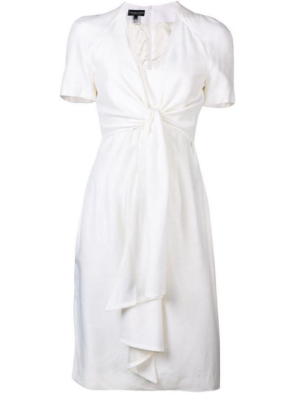 Jean Louis Scherrer Pre-Owned knot detail dress in white