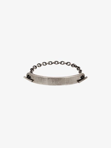 M. Cohen Sterling silver ID bar chain bracelet