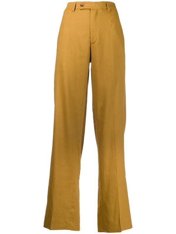 MRZ straight-leg trousers in yellow